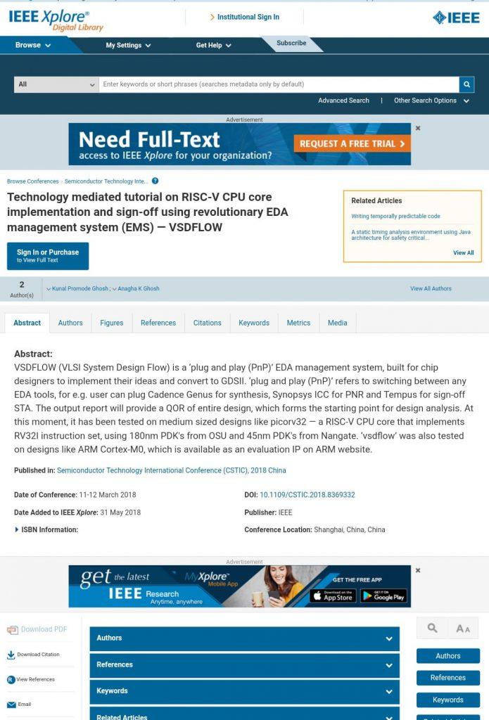 Publication by Kunal Ghosh   VLSI System Design